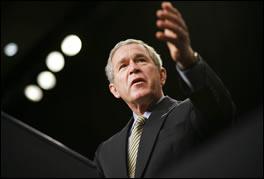 El Presidente Bush de paso por Colombia